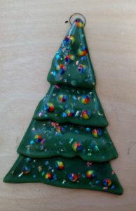 fused glass christmas tree ornament - Fused Glass Christmas Ornaments
